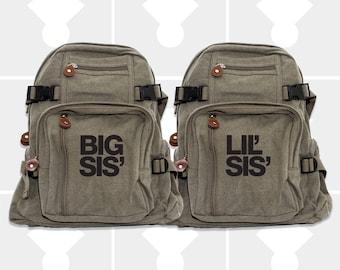 Girls Backpack, Big Sister, Little Sister, Diaper Bag Backpack, Backpacks, Small Backpack, School Backpack, Sister Gift, Big Sister Gift