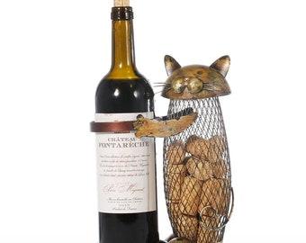 Cat Gift Cat Wine Bottle Holder Wine Gift Wine Cork Holder Bottle Holder Cute Cat Gift Kitchen Cat Mother's Day Gift