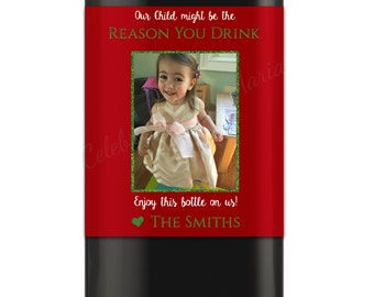 Christmas Wine Label - Reason You Drink Wine Labels - Teacher Gift - Teacher Wine Gift - Daycare Gift - Christmas Gift - Digital File