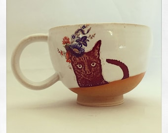 Bully's Black Cat Fabulous Tea Cup
