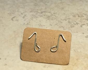 Handmade music notes earrings