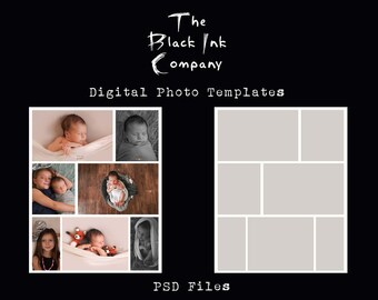8 x 10 Collage Template #7 Portrait