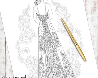 Printable Colouring Page Honour
