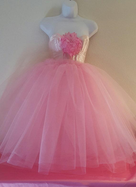 Length Bridal Satin Ballgown Tulle Party Or Belly Flower Midi Dance Wedding Tea Tutu Pink Corset Party SF7Yqwn1