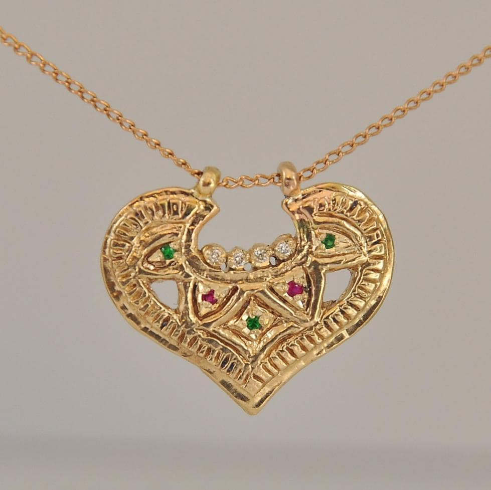 Jewelry Necklace 14k Gold Necklace Solid Gold Pendant