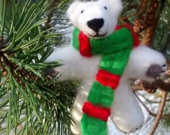 Felt Polar Bear  Decoration