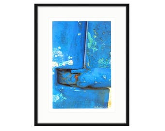 Abstract Photo, Blue Rudder by Liza Cowan. Two sizes, two frame choices. FREE SHIPPING
