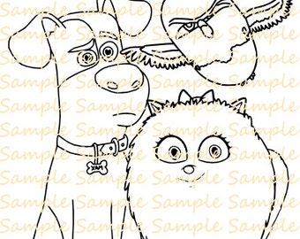 Dog coloring book | Etsy