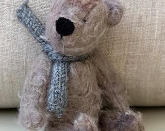 Miniature vintage mohair teddy bear