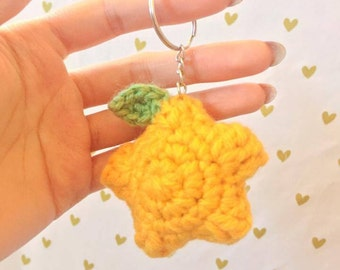Paopu Fruit, Kingdom Hearts, Crochet paopu fruit, Crochet Keychain, Amigurumi Paopu Fruit