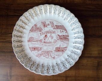 "Vintage  Tijuana decorative porcelain 9-3/4"" plate (#EV153)"