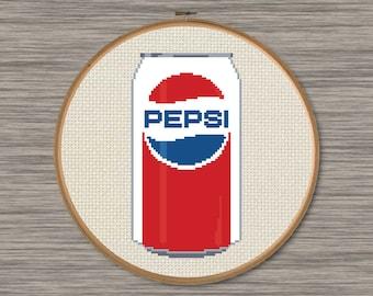 Pepsi Can - Vintage Design - PDF Cross Stitch Pattern