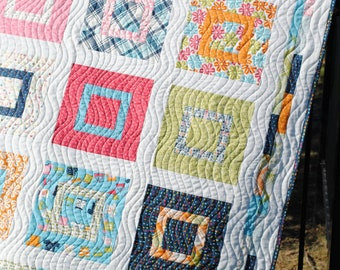PDF Baby or Lap Quilt Pattern, ...Layer Cake or Fat Quarters, Sweet Jane's Lovie