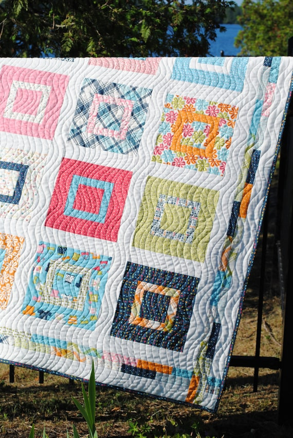 Pdf Baby Or Lap Quilt Pattern Layer Cake Or Fat Quarters