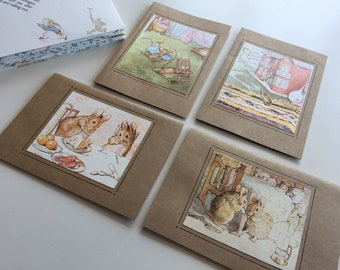 Beatrix Potter The Tale of Two Bad Mice Blank Greeting Birthday Thank You Baby Shower Cards, Set of 8