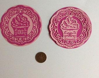 Pink Die Cut Cupcakes
