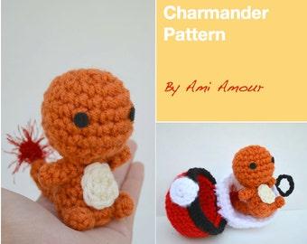 Charmander pattern amigurumi crochet