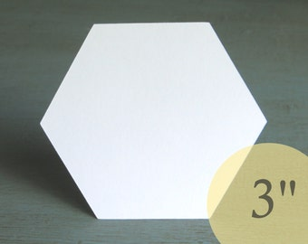 "Hive Paper Pieces - 3"" HEXAGONS - English Paper Piecing Quilt Hexies - Choose Package Size"