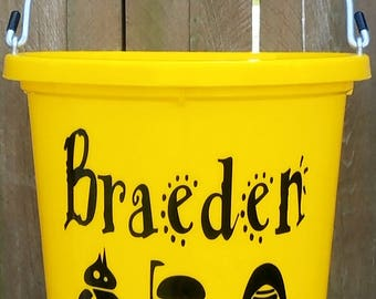 Horse tack buckets personalized customized equestrian gifts personalized easter buckets easter gifts gifts for kids kids easter negle Gallery