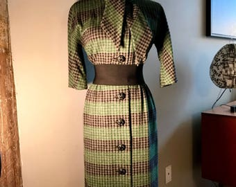 Vintage 60s wool blend dress