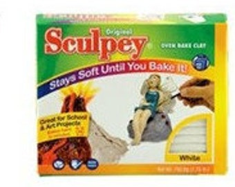 SCULPEY White 1.75LB Pack S2