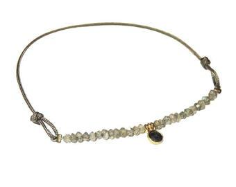 Labradorite and Sapphire bracelet