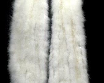 1950s HOLLYWOOD VINTAGE GLAMOUR - Sumptious Luxurious  Soft Marabou Feather Shrug Wrap Stole Cape - Wedding Ivory Black or White