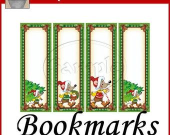 Merry Mice Bookmarks Christmas Printable