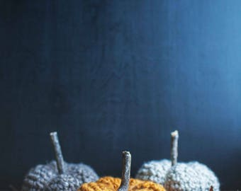 Crocheted pumpkins // available in 6 colors