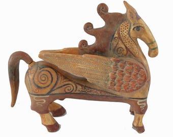 Pegasus sculpture statue créature mythique grecque ancienne statue artefact