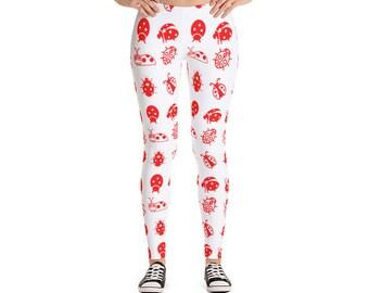 Ladybug Leggings For Women Yoga Pants Yoga Leggings Workout Leggings Pattern Leggings Printed Leggings Fashion Leggings Womens Tights Yoga