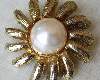 80's Sun brooch