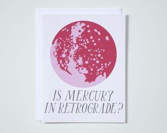 Is Mercury in Retrograde? - Note Card