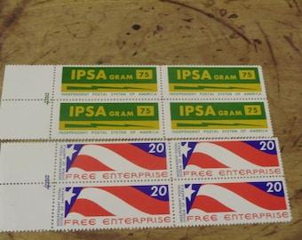 2/ 1971 IPSA Private Stamp/ 4 Block Lot