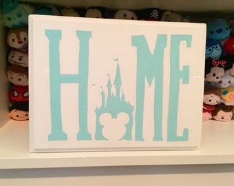 Disney World Castle Home Sign