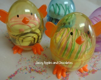 Chicks, Bunnies, or Eggs filled with Oreos for Easter