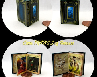 MYTHICAL CREATURES Textbook in 1:6 Scale Illustrated Readable Spell Book Magic Wizard Witch Fortune Teller Gypsy Potter Animals Creatures