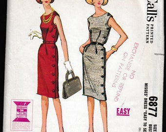 McCall's 6877 Misses Easy to Sew Dress