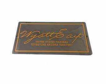 Wyatt Earp Signature Plate