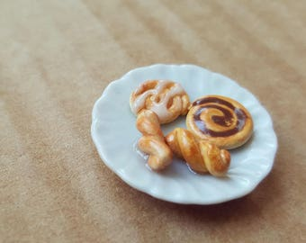 Miniature Plate with Pastries