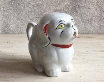 Vintage porcelain collectible dog creamer gift for dog lover