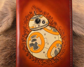 BB-8 leather journal, The Last Jedi, Star Wars leather journal, refillable leather notebook, the Force Awakens, travel journal