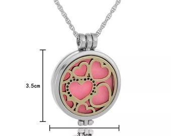 gold and silver aromatherapy diffusing locket