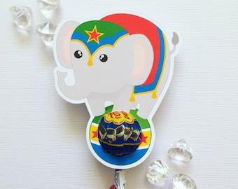 Circus elephant lollipop holders