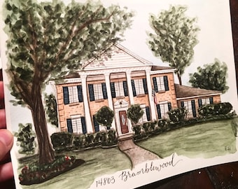 Custom Watercolor Home Portraits