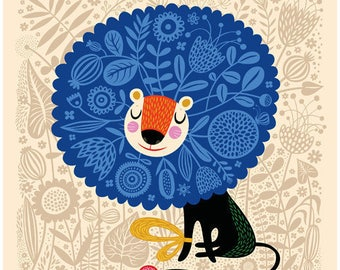 His Royal Spirit ... limited edition giclee print of an original illustration (8 x 8 in, 20 x 20 cm)
