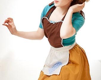 apron CINDERELLA  apron Cinderella Work APRON  Princess style  womens full Apron Cinderella costume Style WA100