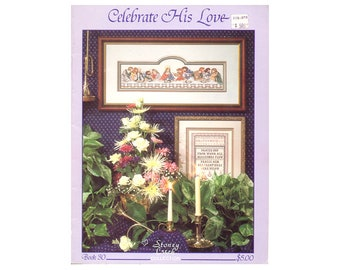 Celebrate His Love Cross Stitch Booklet, Last Supper Cross Stitch Booklet, Scripture Cross Stitch, Craft Book NewYorkTreasures