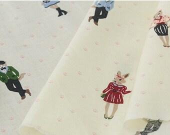 Fantastic Miss Fox, Cotton 100% fabric, by Yard, 150cm width