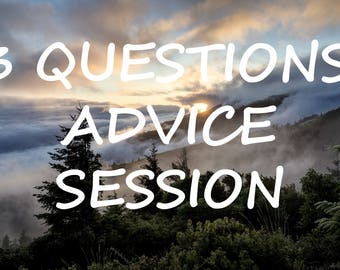 3 Questions Advice Session